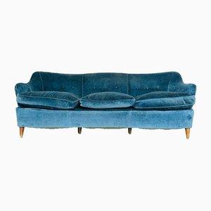 Divano a tre posti vintage blu di Gio Ponti, anni '60