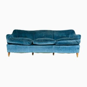 Vintage Blue 3-Seater Sofa by Gio Ponti, 1960s