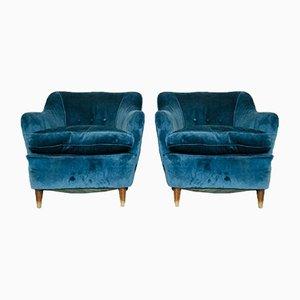 Italienische Vintage Sessel von Gio Ponti, 1960er, 2er Set