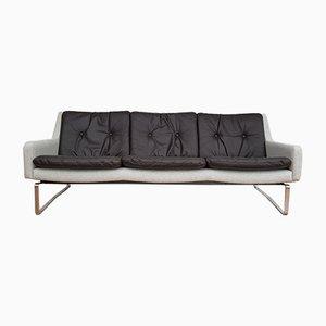 Dänisches Mid-Century Sofa in Schwarz & Grau, 1970er