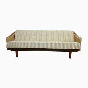 Sofá cama danés vintage con detalles de teca, años 60