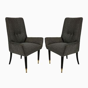 Mid-Century Italian Side Chairs, Set of 2
