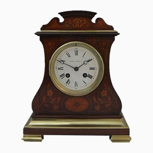 French Belle Epoque Rosewood Mantel Clock from A.D Mougin, 1900s