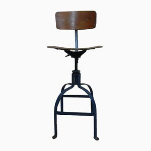 Chaise d'Architecte Modèle 205 Industrielle par Roger Blanc pour Bienaise, 1950s