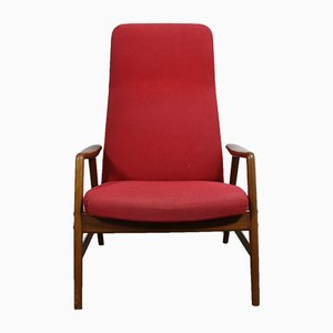 Vintage Danish Reclining Kontour Chair by Alf Svensson for Fritz Hansen, 1950s