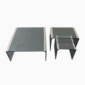 Vintage Nesting Coffee Tables by Pierangelo Gallotti for Gallotti & Radice