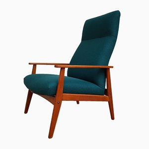 Danish Turquoise Lounge Chair, 1970s