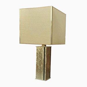 Goldene Hollywood Regency Tischlampe aus Metall, 1970er