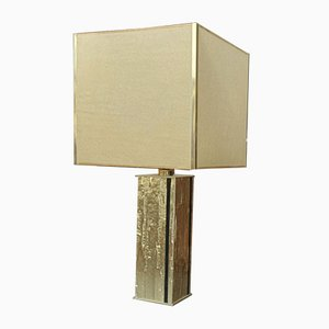 Hollywood Regency Golden Metal Table Lamp, 1970s