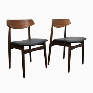 Vintage Danish Teak Dining Chairs, Set of 2