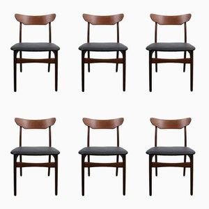 Chaises de Salon Vintage en Teck de Schiønning & Elgaard, Set de 6