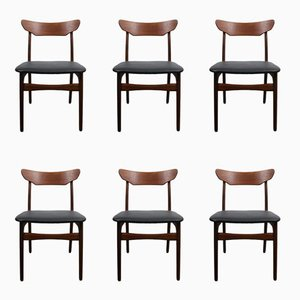 Vintage Danish Teak Dining Chairs from Schiønning & Elgaard, Set of 6
