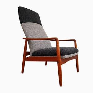 Sessel in Schwarz & Grau von Søren J. Ladefoged für Slagelse Møbelværk, 1960er