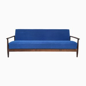 Vintage Scandinavian Convertible Rosewood Sofa