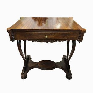 Walnut Console Table, 1800s