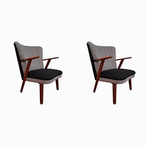 Danish Black & Grey Armchairs, 1960s, Set of 2