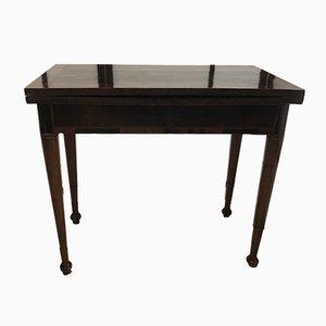 Mesa de juegos de nogal, década del 1800