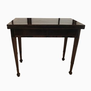 Walnut Game Table, 1800s