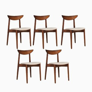 Chaises Vintage par Harry Østergaard, Set de 5