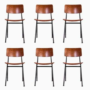 No. 202 Chairs by Ynske Kooistra for Marko Holland, 1960s, Set of 6