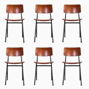 Nr. 202 Stühle von Ynske Kooistra für Marko Holland, 1960er, 6er Set