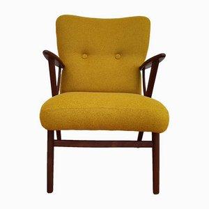 Gelber dänischer Sessel, 1950er
