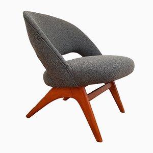 Scandinavian Grey Armchair, 1950s