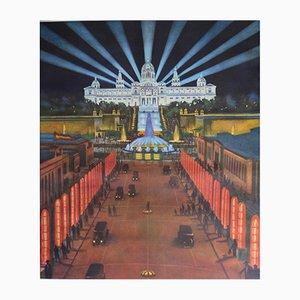 Poster Art Deco Barcelona di G. Amat, 1929