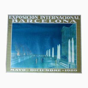 Art Deco International Exhibition Barcelona Poster von G. Amat, 1929
