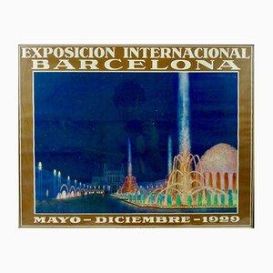 Poster Art Deco dell'Expo a Barcelona di G. Amat, 1929
