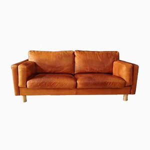 Vintage German Leather Sofa from ERPO International