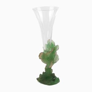 Pate de Verre Art Glass Vase from Daum, 1980s