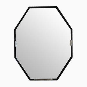 Espejo francés Art Déco octogonal, años 30