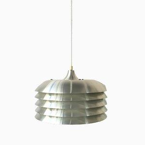 Lampada da soffitto T-742 Mid-Century in alluminio di Hans-Agne Jakobsson