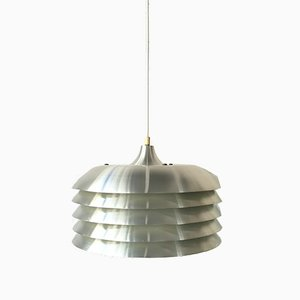 Lámpara de techo T-742 Mid-Century de aluminio de Hans-Agne Jakobsson