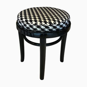 Austrian Black Lacquered Stool from Thonet, 1930s
