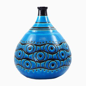 Art Deco French Primavera Vase from Longwy, 1920s