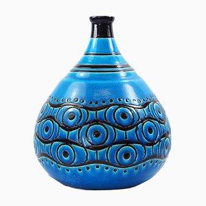 Französische Art Deco Primavera Vase von Longwy, 1920er