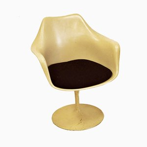 Vintage Beige Tulip Armchair for Knoll, 1950s