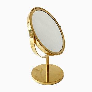 Espejo de mesa de latón de Hans-Agne Jakobsson, años 60