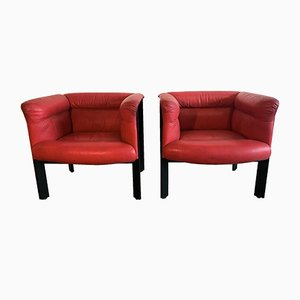 Italian Interlude Armchairs by Marco Zanuso for Poltrona Frau, 1983, Set of 2
