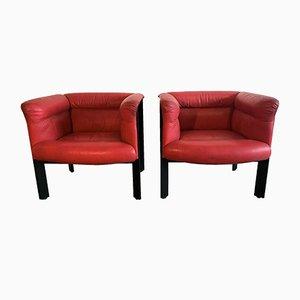 Italian Interlude Armchairs by Marco Zanuso for Poltrona Frau, 1983, Set of 2