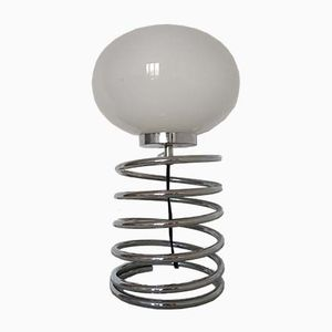 Vintage Spring Table Lamp, 1970s