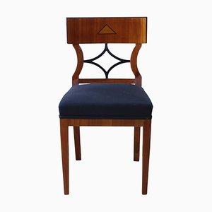 19th-Century Biedermeier German Cherry & Birch Veneer Chair