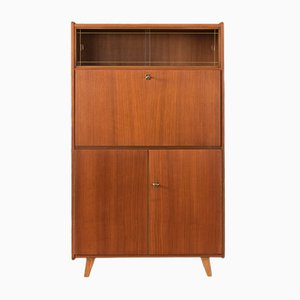 Vintage Veneered Secretary, 1950s