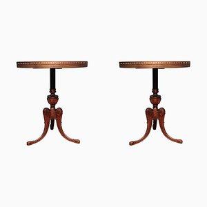 Nussholz Tisch, 1950er, 2er Set