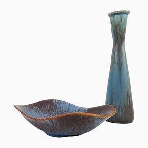 Piezas de cerámica Mid-Century de Gunnar Nylund para Rörstrand. Juego de 2