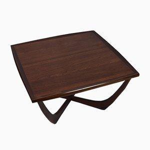 Tavolino da caffè quadrato in palissandro di G-Plan, anni '70