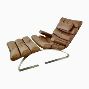 Sinus Lounge Chair & Ottoman Set by Reinhold Adolf for Cor, 1980s
