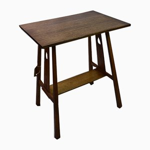 Antique Arts & Crafts Side Table by EA Taylor for Wylie & Lochead